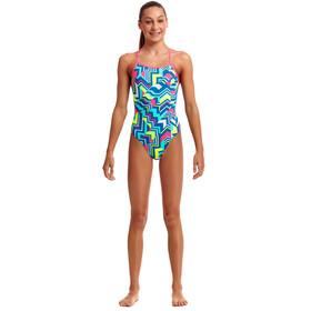 Funkita Tie Me Tight Swimsuit Girls cut lines